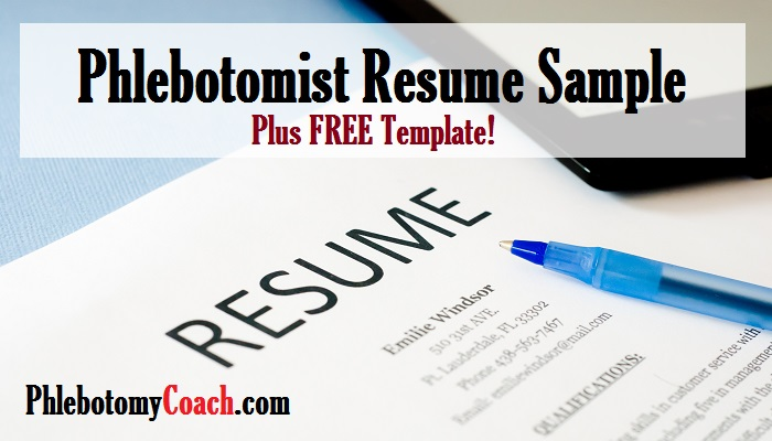 phlebotomist sample resume