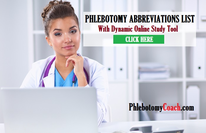 phlebotomy abbreviations list and study tool