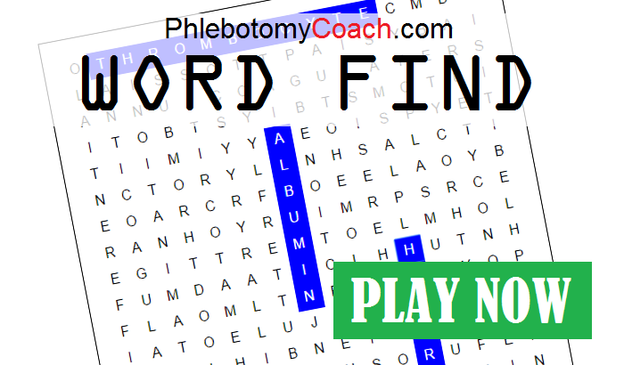 Phlebotomy Word Find